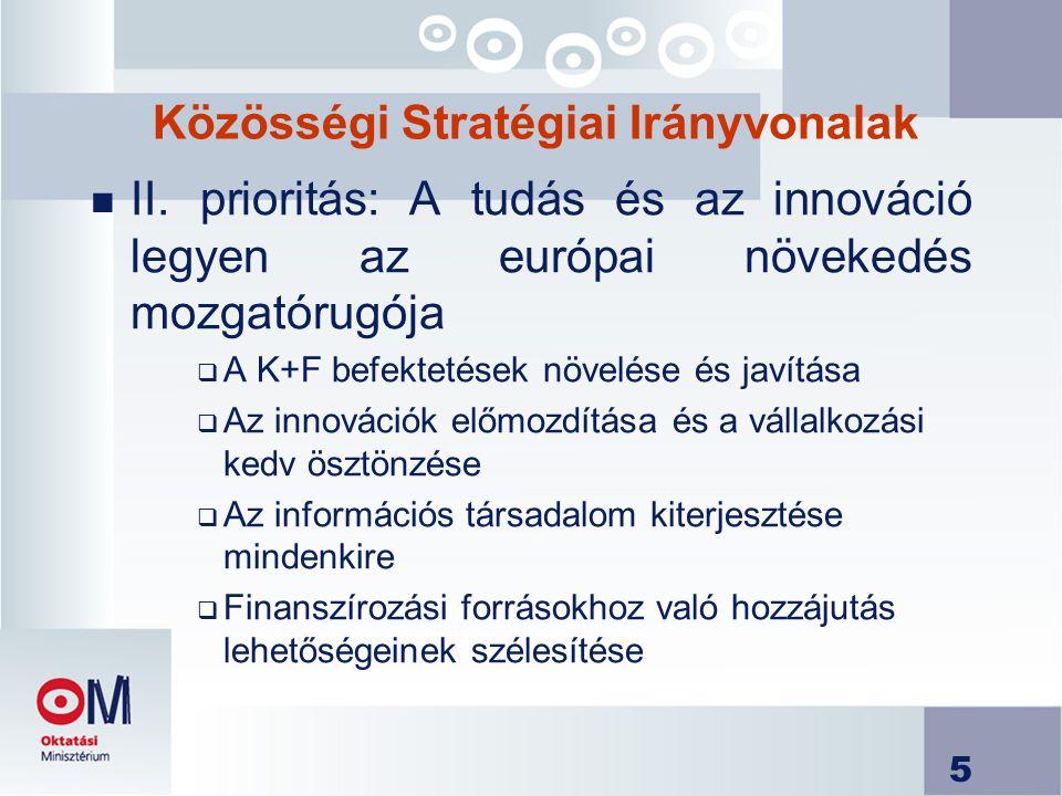 5 Közösségi Stratégiai Irányvonalak n II.