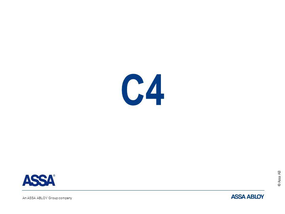 An ASSA ABLOY Group company © Assa AB C4