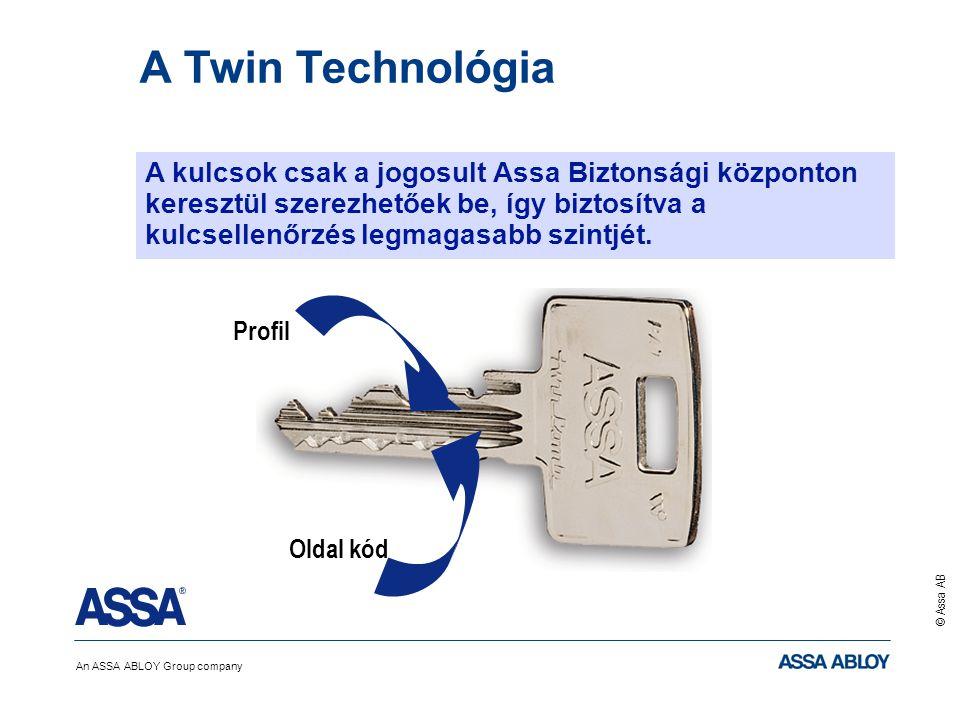 An ASSA ABLOY Group company © Assa AB Oldal kód Profil A kulcsok csak a jogosult Assa Biztonsági központon keresztül szerezhetőek be, így biztosítva a kulcsellenőrzés legmagasabb szintjét.