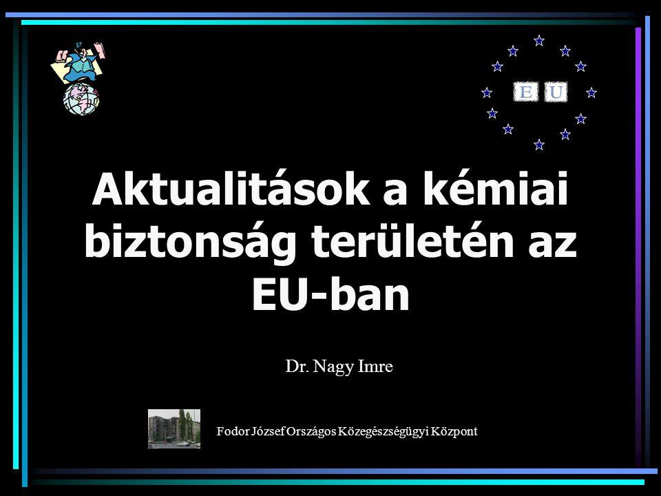 Aktualitások a kémiai biztonság területén az EU-ban Dr.