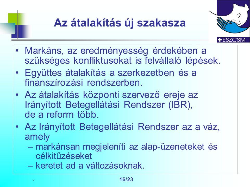 16/23 Az átalakítás új szakasza Markáns, az eredményesség érdekében a szükséges konfliktusokat is felvállaló lépések.