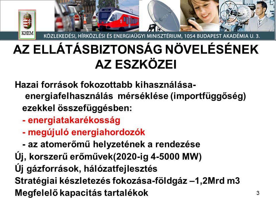 14 Megújuló energiahordozó-bázisú villamosenergia- termelés 20012007 (2008 előzetes) GWh % Geotermia--- Napenergia0,060,30 Tűzifa (szilárd biomassza) 7137373 Biogáz7,6442 Vízenergia18621011 Szélenergia0,91106 Összesen201,5173794 Hulladékégetés fele561418 Mindösszesen 2571878 (2355)100