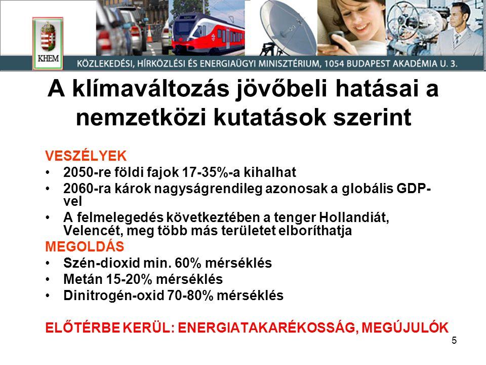 26 Energiaigény prognózisok a GDP alakulás, a 2006-2008 közötti GDP-energia összefüggések és a megtakarítási arány függvényében (korábbi en.