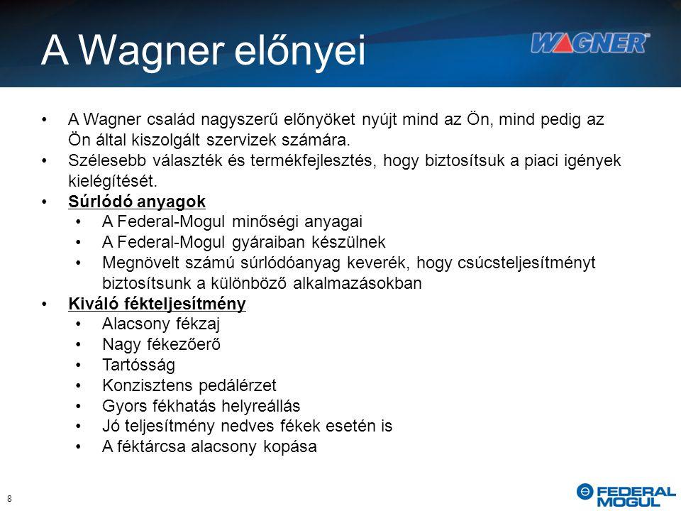 8 A Wagner előnyei A Wagner család nagyszerű előnyöket nyújt mind az Ön, mind pedig az Ön által kiszolgált szervizek számára.