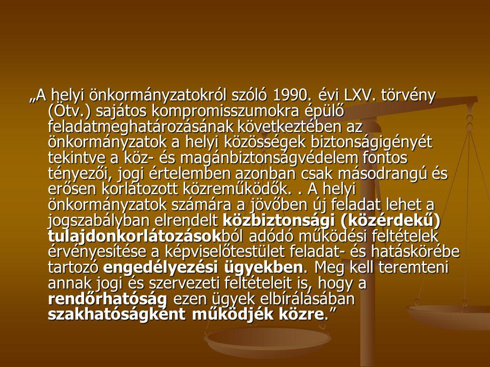 """""""A helyi önkormányzatokról szóló 1990.évi LXV."""