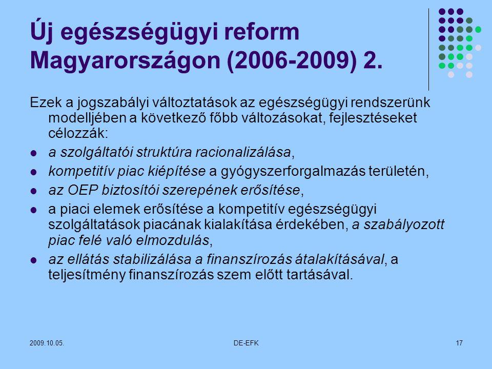 2009.10.05.DE-EFK17 Új egészségügyi reform Magyarországon (2006-2009) 2.