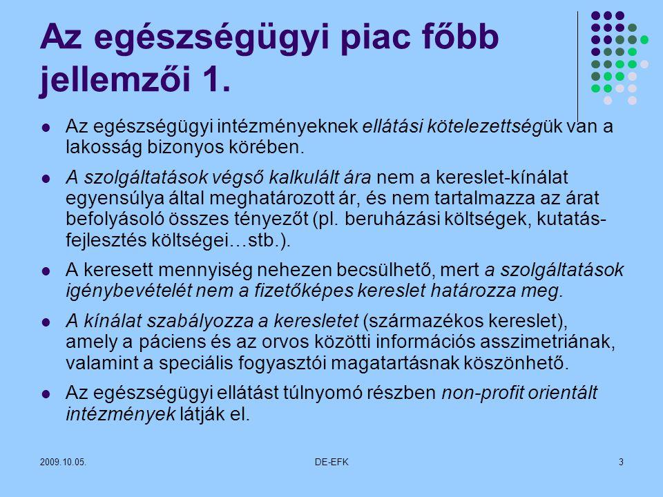 2009.10.05.DE-EFK3 Az egészségügyi piac főbb jellemzői 1.