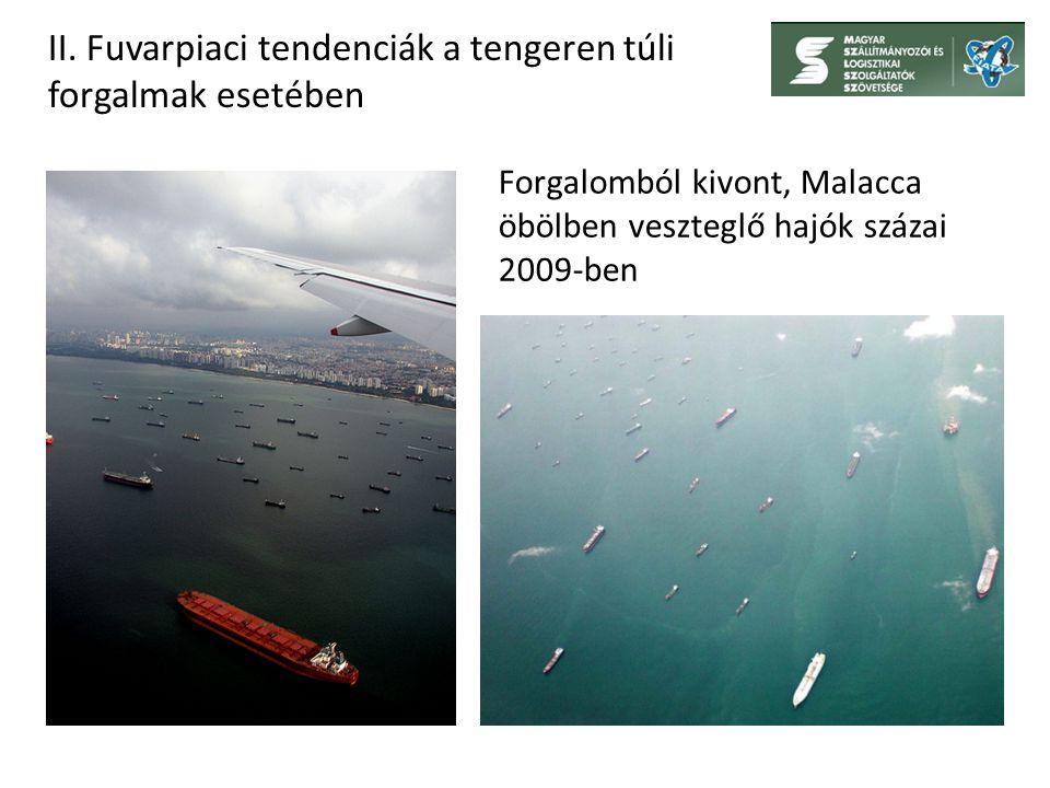 Forgalomból kivont, Malacca öbölben veszteglő hajók százai 2009-ben