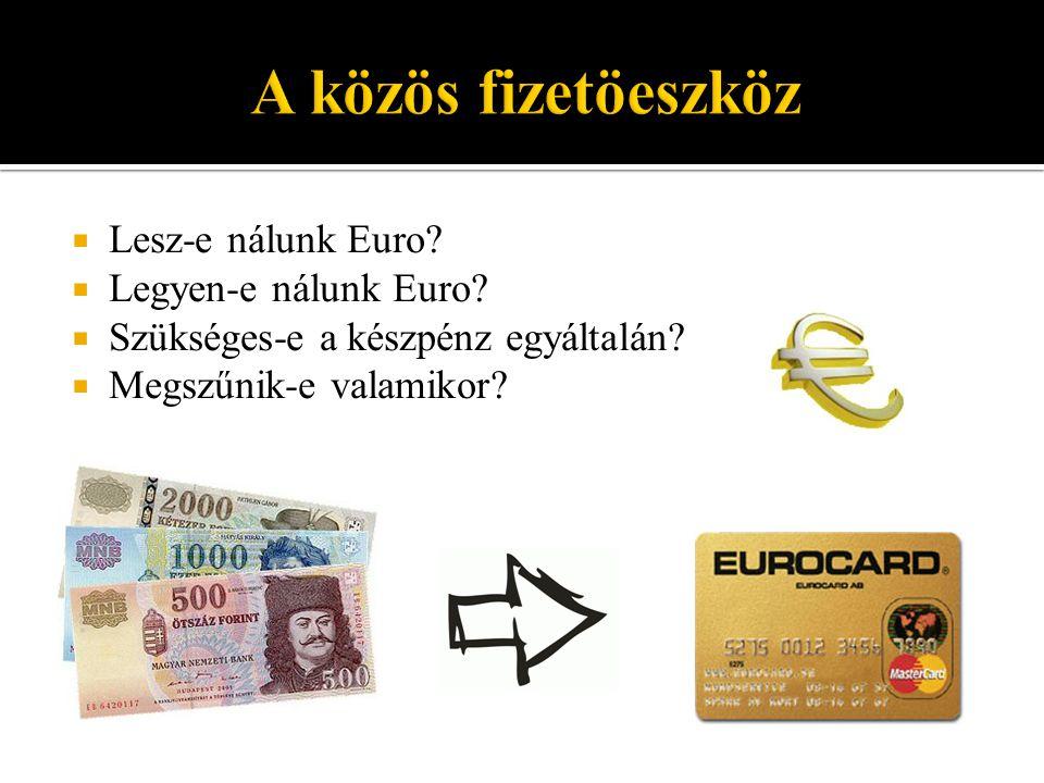  Lesz-e nálunk Euro. Legyen-e nálunk Euro.  Szükséges-e a készpénz egyáltalán.