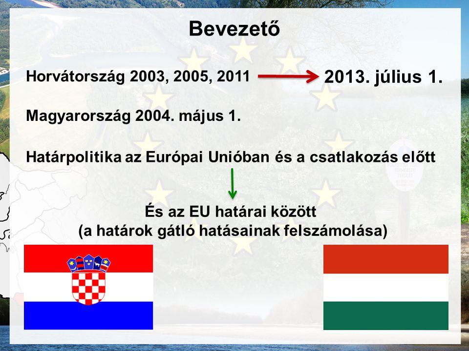 Bevezető Horvátország 2003, 2005, 2011 2013.július 1.