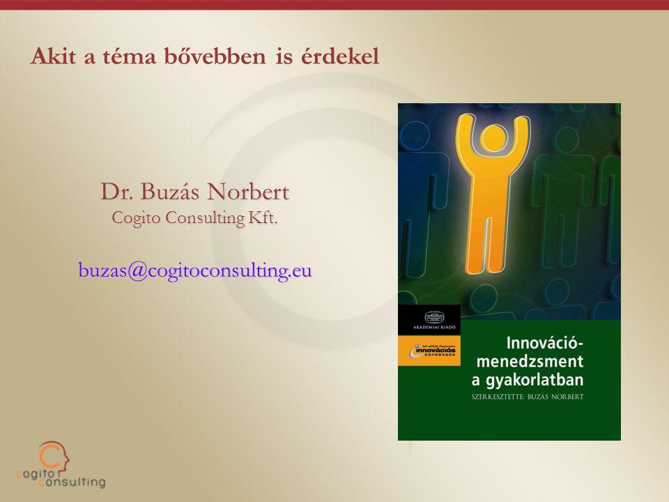 Akit a téma bővebben is érdekel Dr. Buzás Norbert Cogito Consulting Kft. buzas@cogitoconsulting.eu