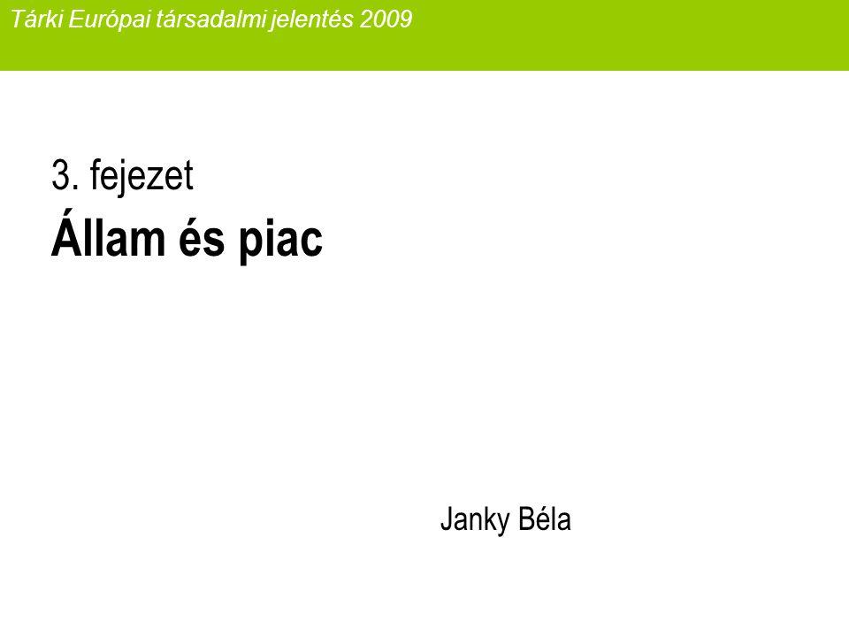 Tárki Európai társadalmi jelentés 2009 3. fejezet Állam és piac Janky Béla