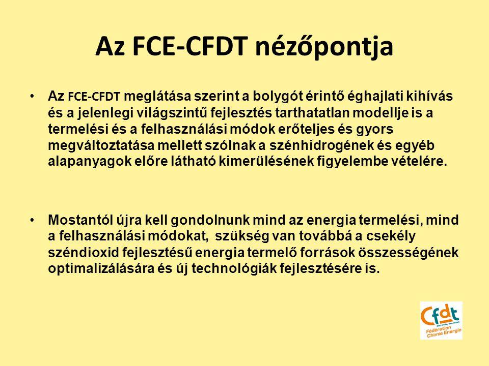Az FCE-CFDT nézőpontja Az FCE-CFDT meglátása szerint a bolygót érintő éghajlati kihívás és a jelenlegi világszintű fejlesztés tarthatatlan modellje is