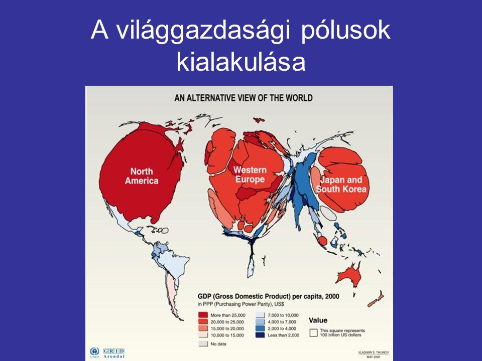 Középkor Több regionális piac Bonyolult kapcsolatrendszerek Fényűzési cikkek kereskedelme (selyem, fűszerek) 15-16.