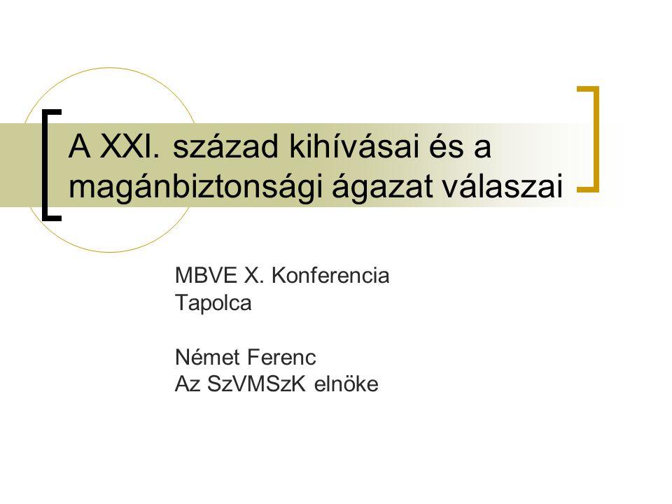 A XXI. század kihívásai és a magánbiztonsági ágazat válaszai MBVE X.