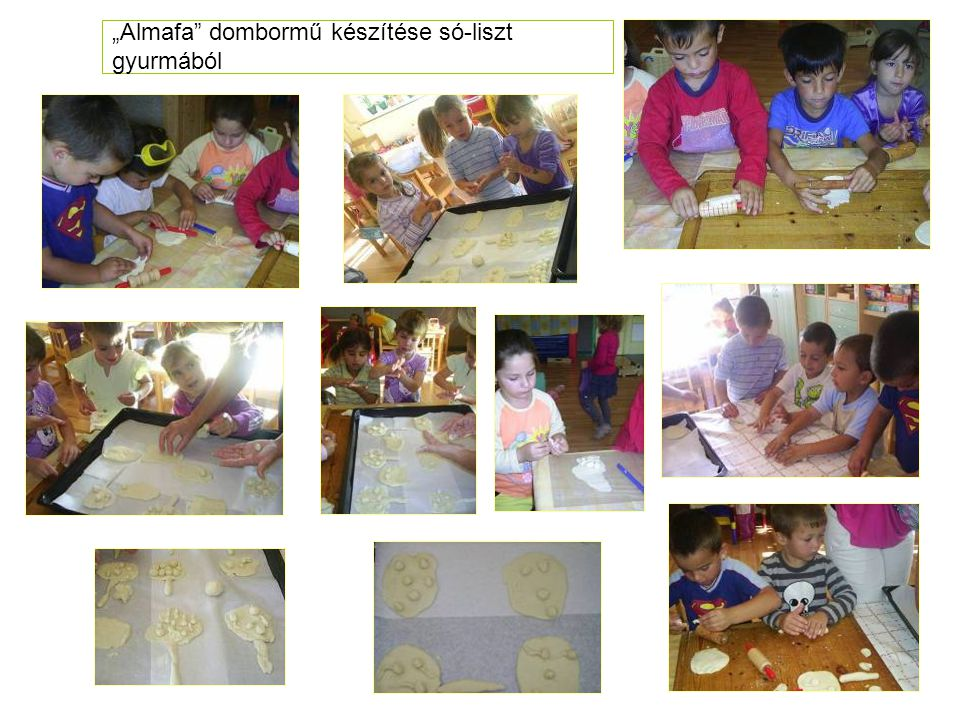 """""""Almafa"""" dombormű készítése só-liszt gyurmából"""