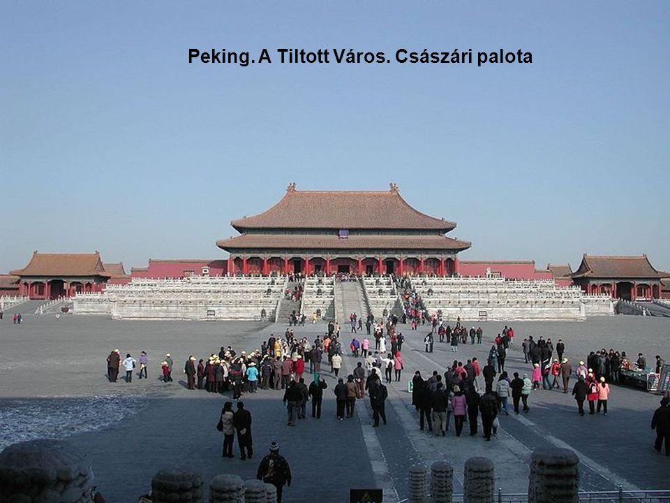 A tiltott város látképe Pekingben