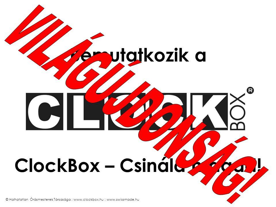 © Halhatatlan Órásmesterek Társasága ; www.clockbox.hu ; www.swissmade.hu A szíj alapesetben fekete bőr színe választható anyaga választható feliratozható (mélynyomással, felárért)