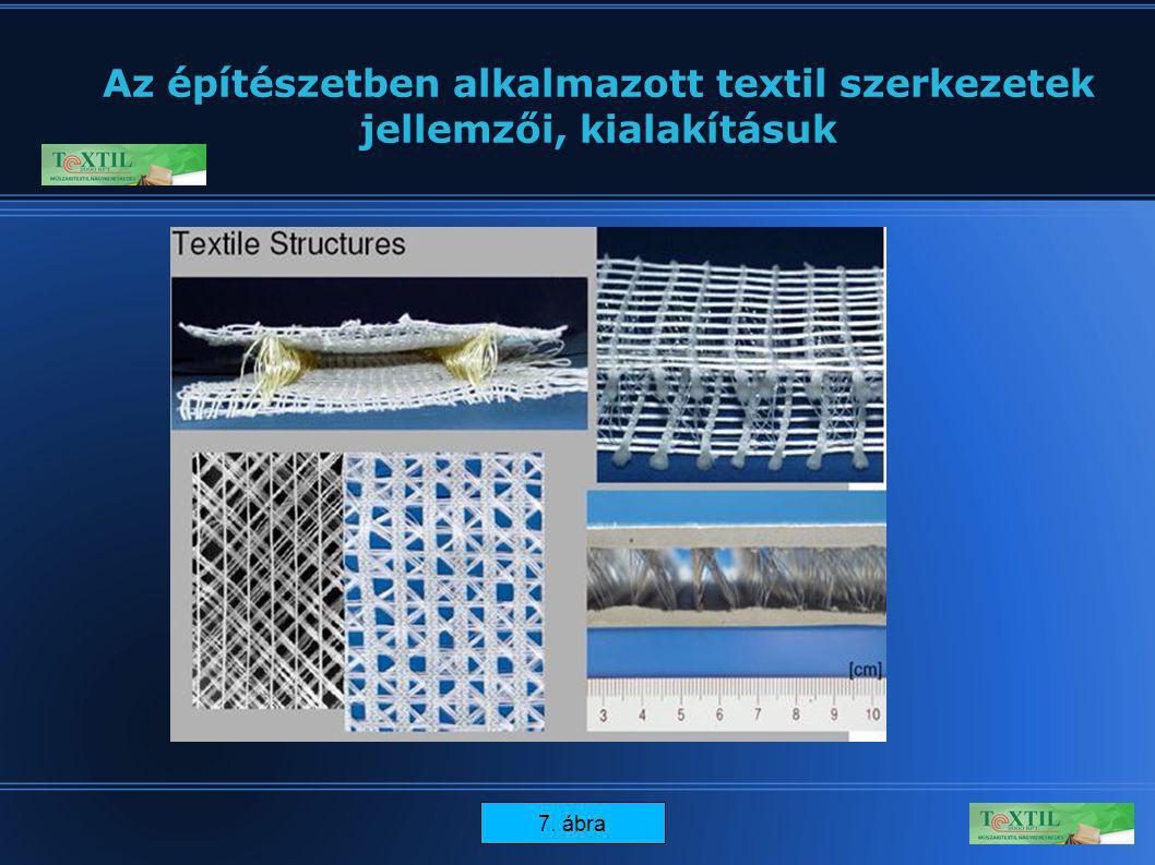 14 Az építészetben alkalmazott textil szerkezetek jellemzői, kialakításuk 7. ábra
