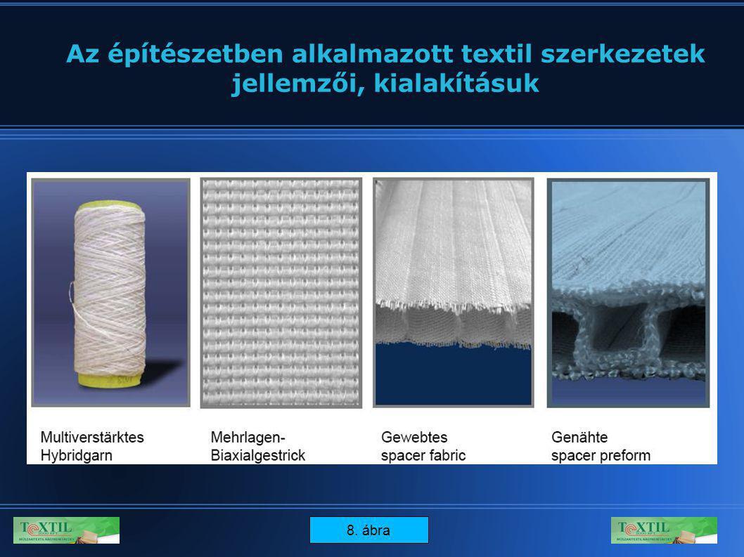 15 Az építészetben alkalmazott textil szerkezetek jellemzői, kialakításuk 8. ábra