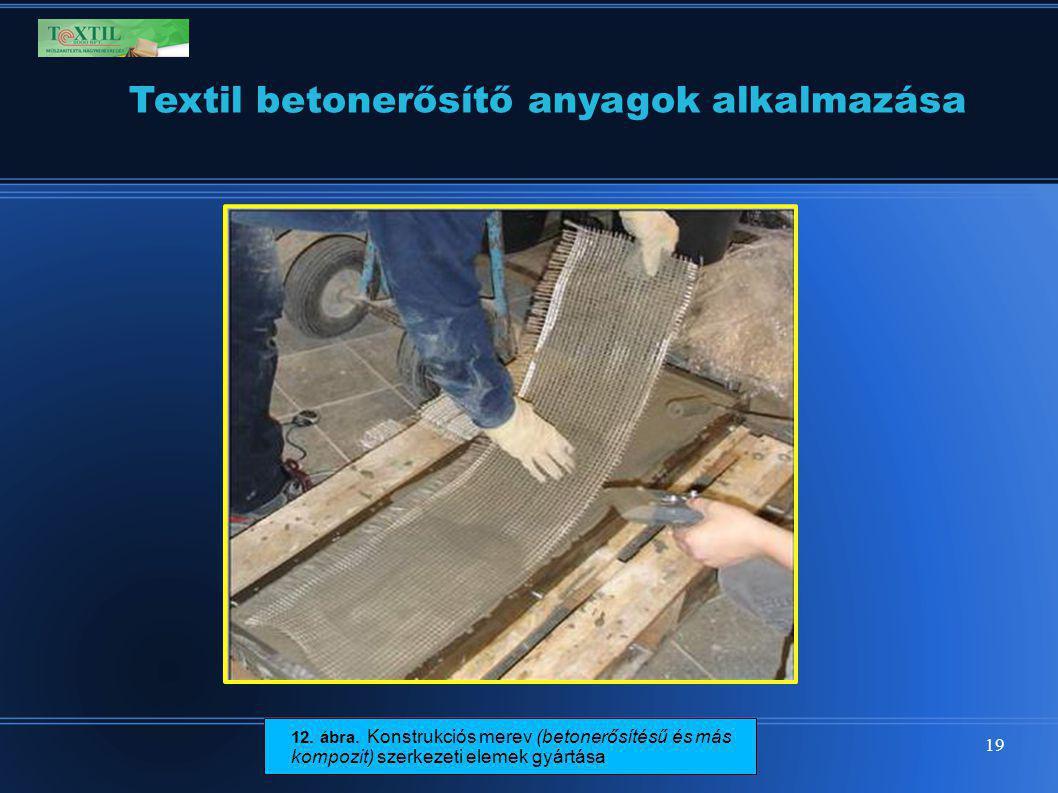 19 Textil betonerősítő anyagok alkalmazása 12. ábra. Konstrukciós merev (betonerősítésű és más kompozit) szerkezeti elemek gyártása