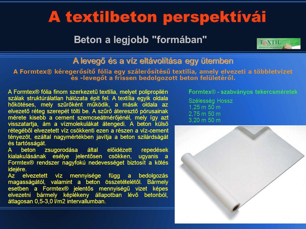 28 A textilbeton perspektívái Beton a legjobb