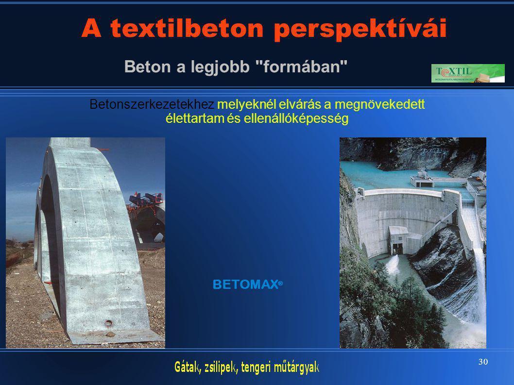 30 A textilbeton perspektívái Beton a legjobb