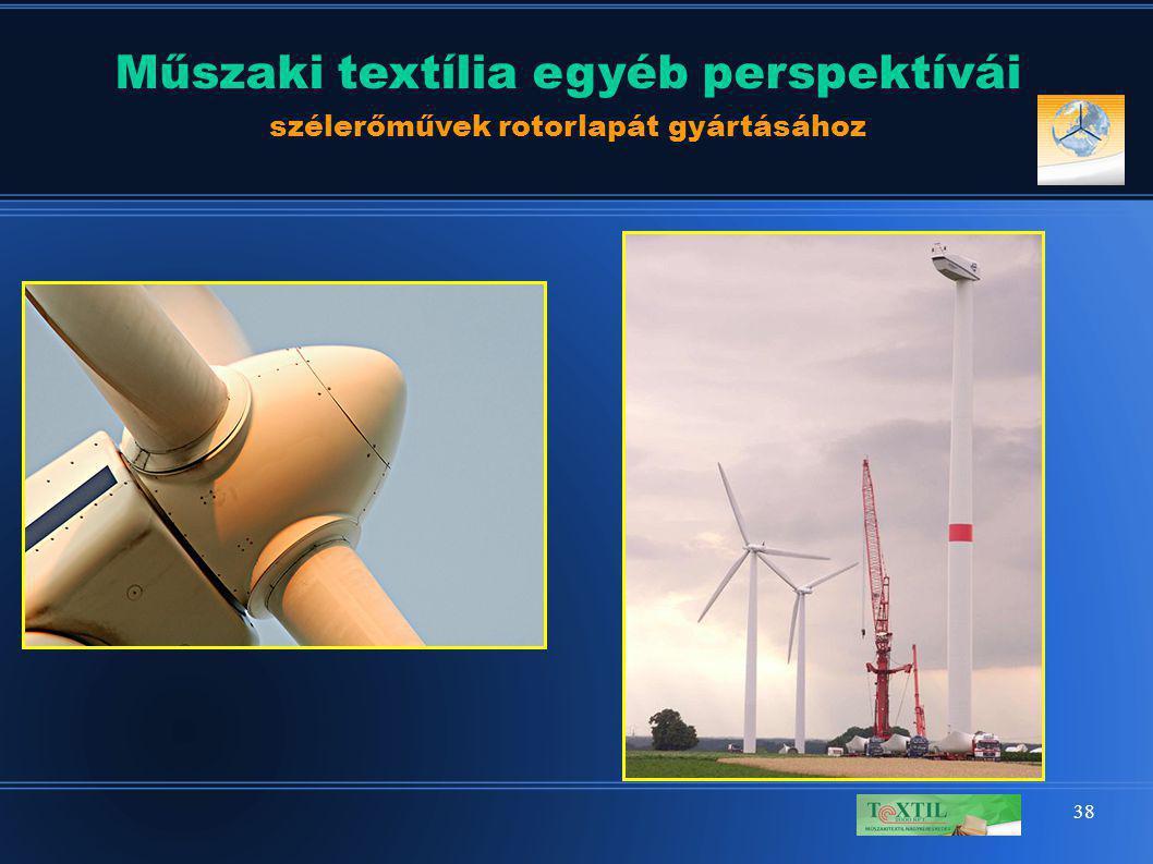 38 Műszaki textília egyéb perspektívái szélerőművek rotorlapát gyártásához