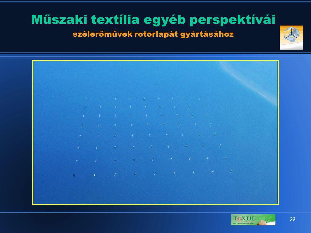 39 Műszaki textília egyéb perspektívái szélerőművek rotorlapát gyártásához