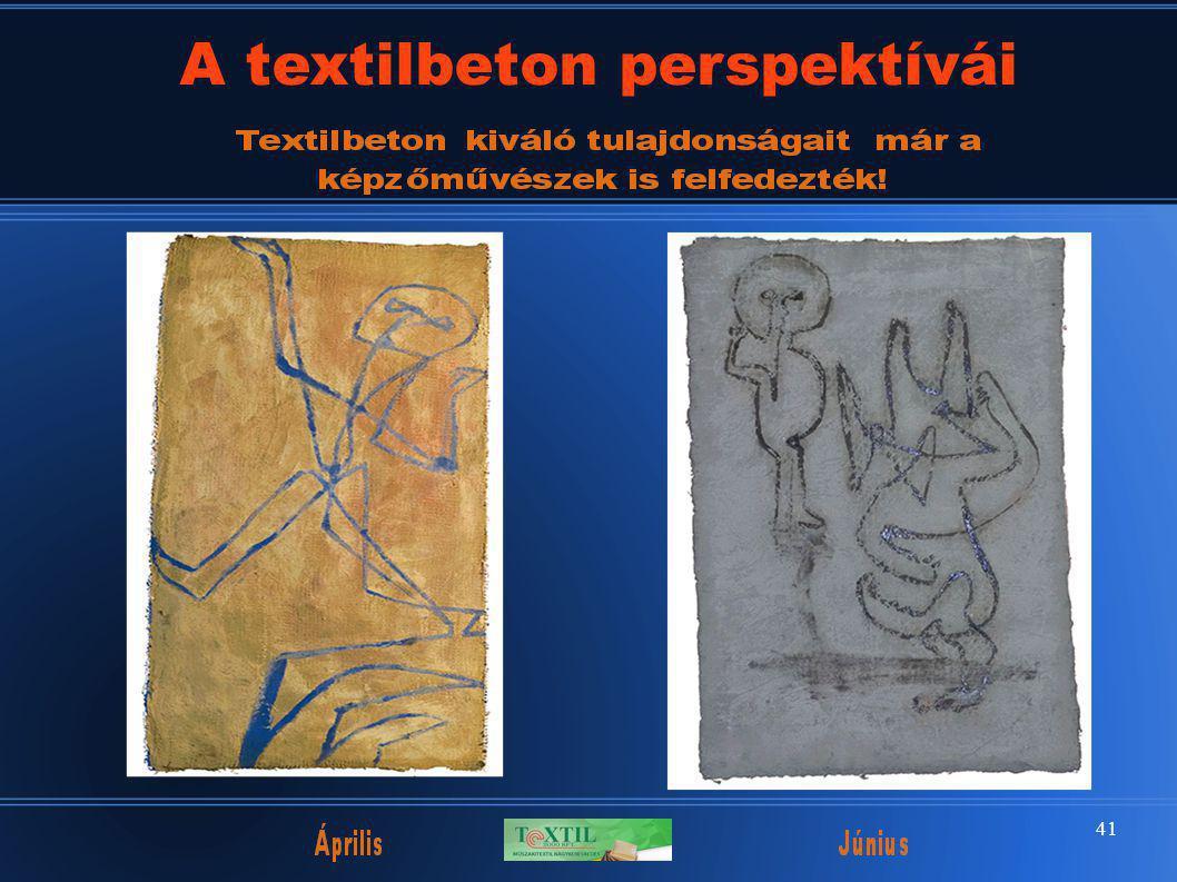 41 A textilbeton perspektívái