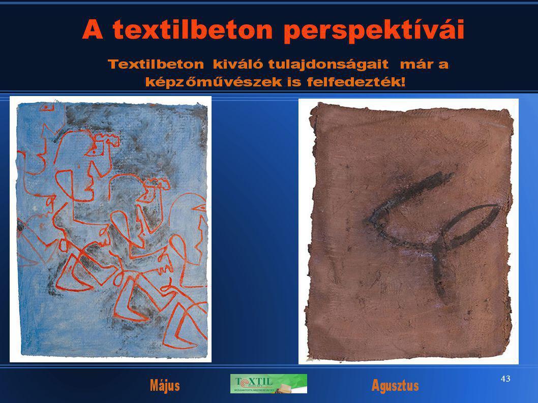 43 A textilbeton perspektívái