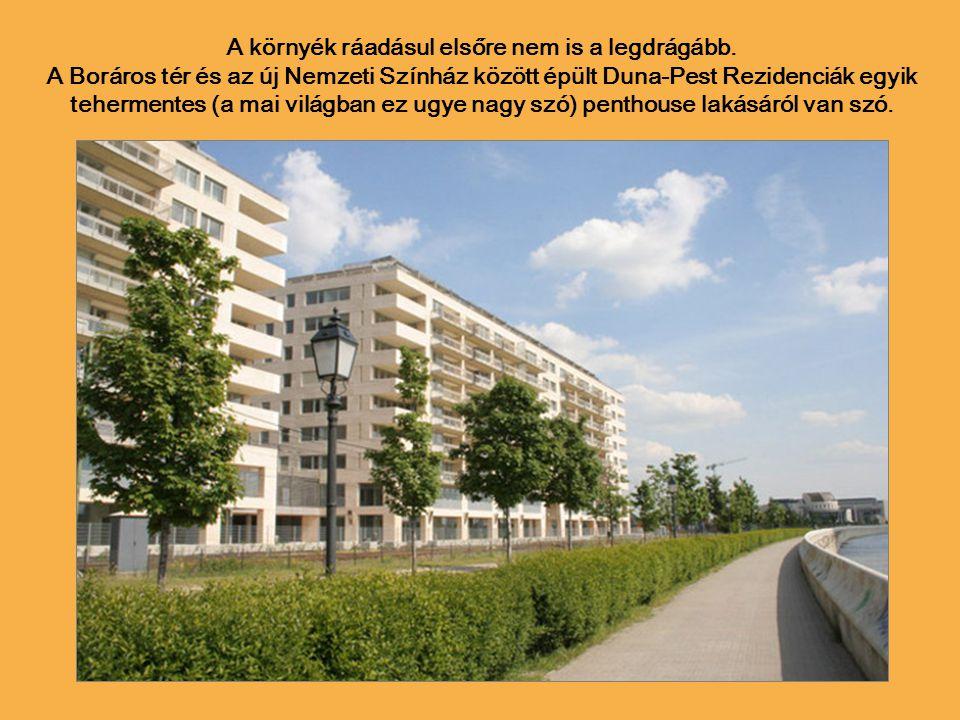 Most viszont itt van egy igazi budapesti gyöngyszem: 766 millió forintos vételár, 430 m2 (plusz 480 m2 terasz), 214 ezer forintos a havi közös költség.