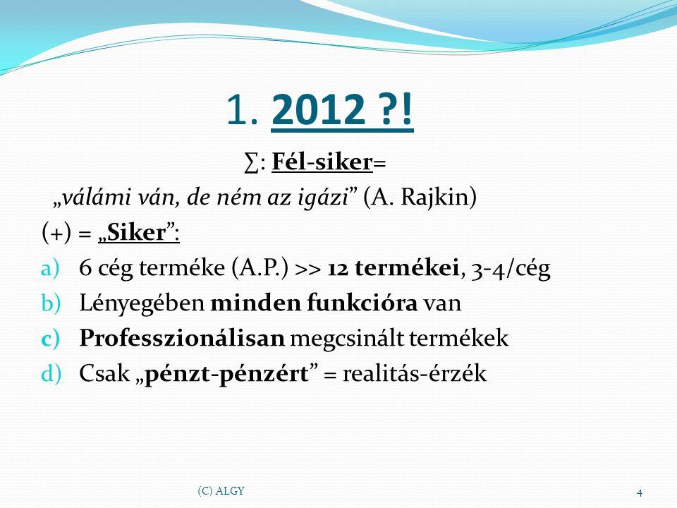 """1. 2012 . ∑: Fél-siker= """"válámi ván, de ném az igázi (A."""