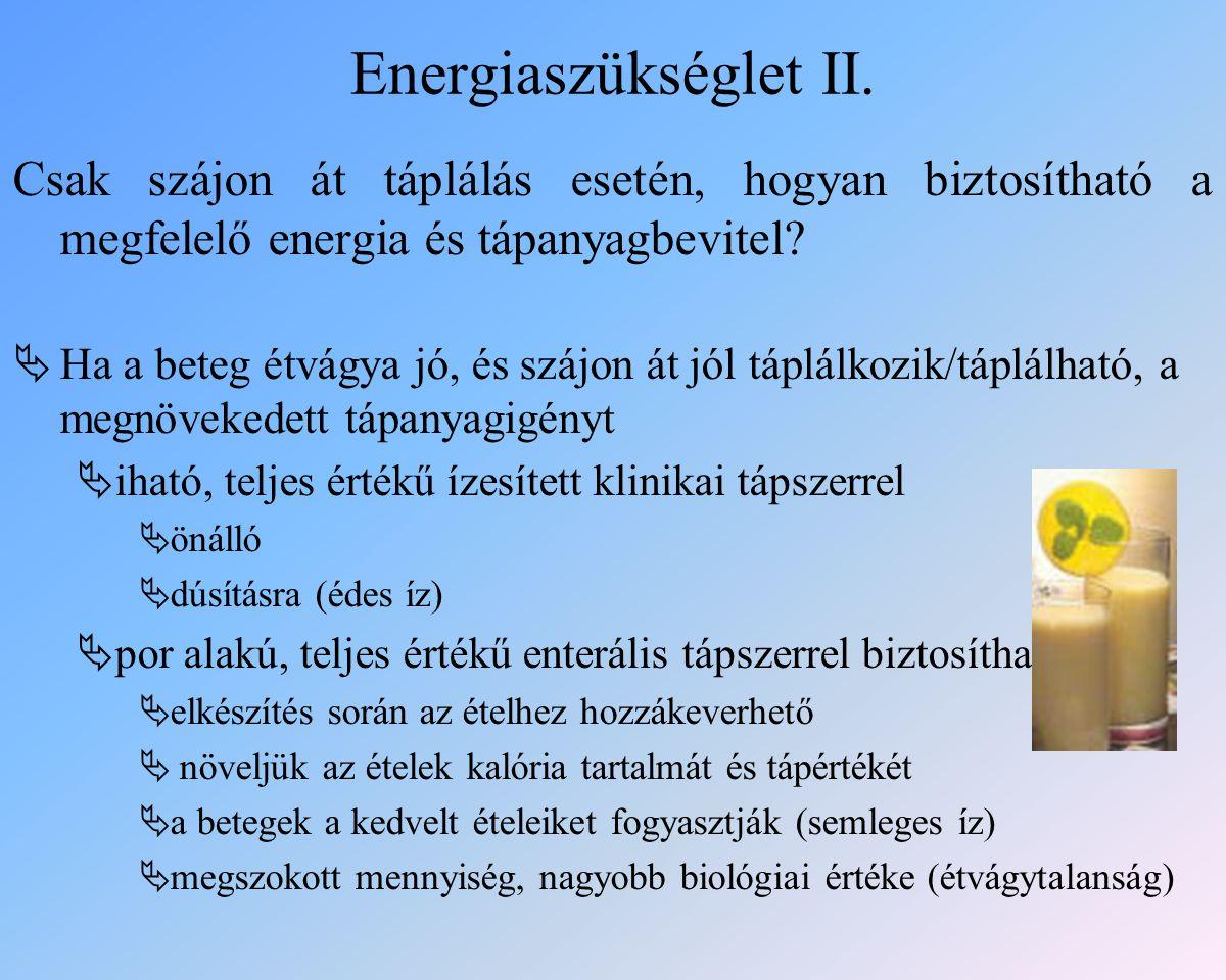 Energiaszükséglet II.