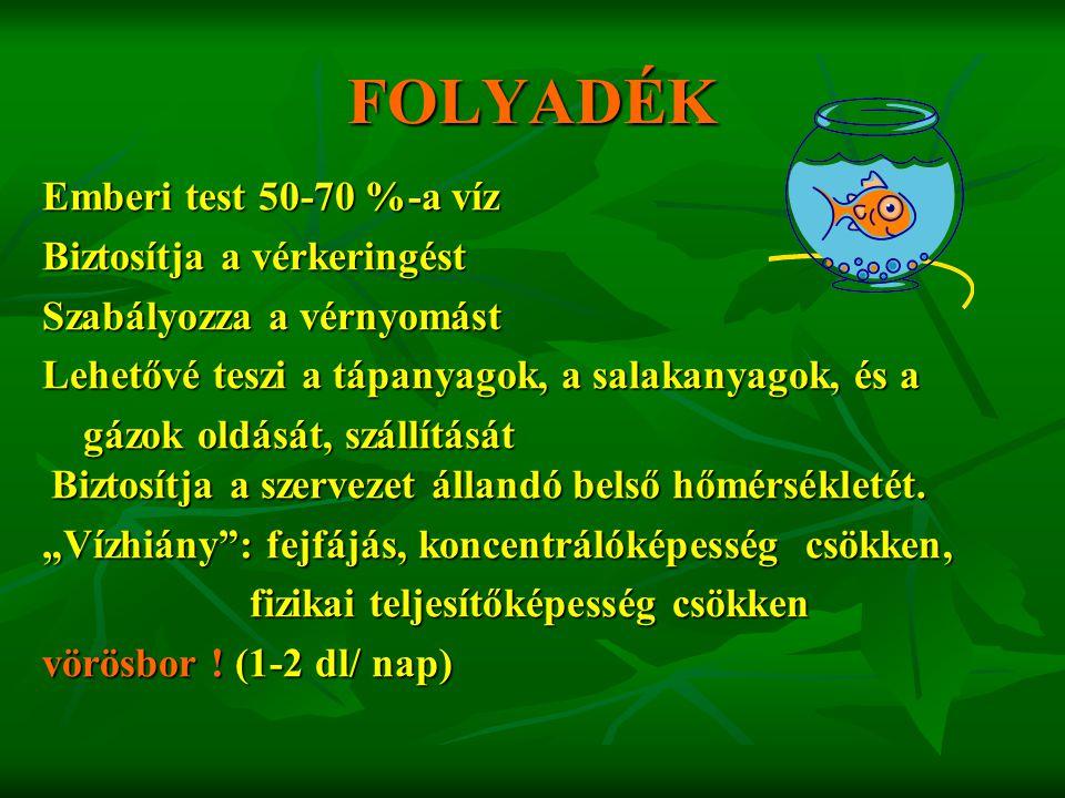 Adalékanyagok, technológiai segédanyagok kizárólag a Magyar Élelmiszerkönyv előírásai szerint és legfeljebb az ott meghatározott mennyiségben használhatók fel.