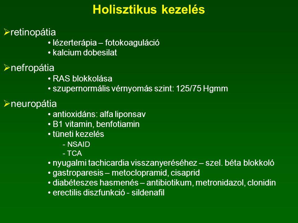  diszlipidémia IV. típusú - TG >2,2 mmol/l, összkoleszterin <5,2 mmol/l - fibrátok II/a típusú - TG 5,2 mmol/l - sztatin II/b típusú -TG: 2,2-4,5 mmo