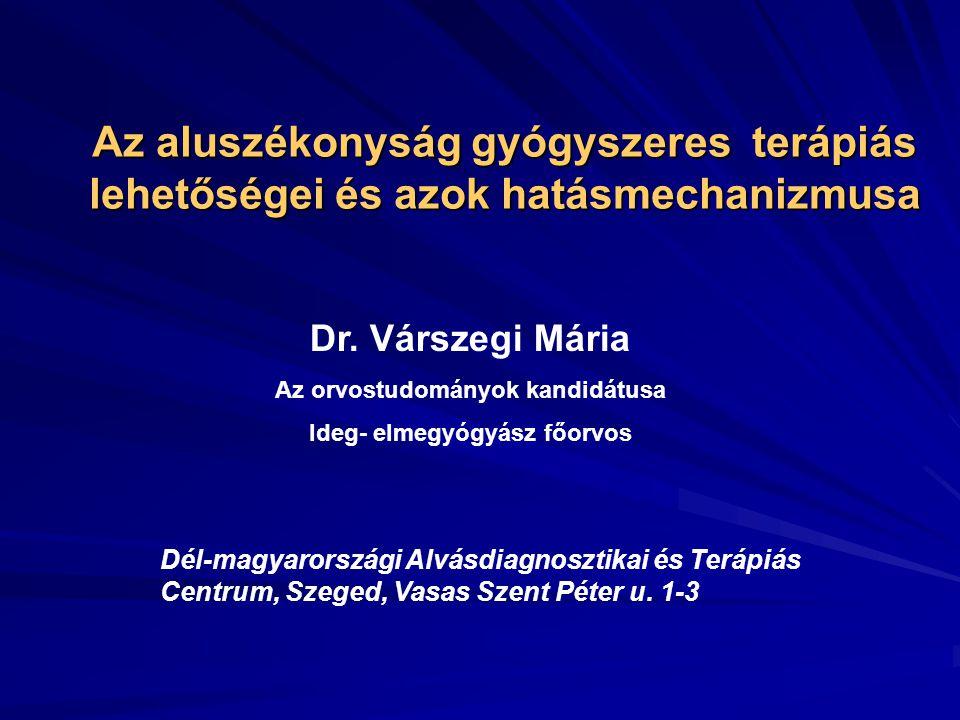 Az aluszékonyság gyógyszeres terápiás lehetőségei és azok hatásmechanizmusa Dr.