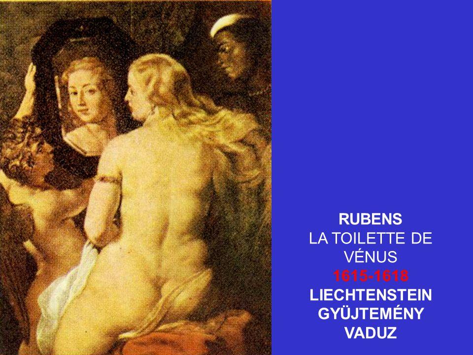 RUBENS LA TOILETTE DE VÉNUS 1615-1618 LIECHTENSTEIN GYÜJTEMÉNY VADUZ