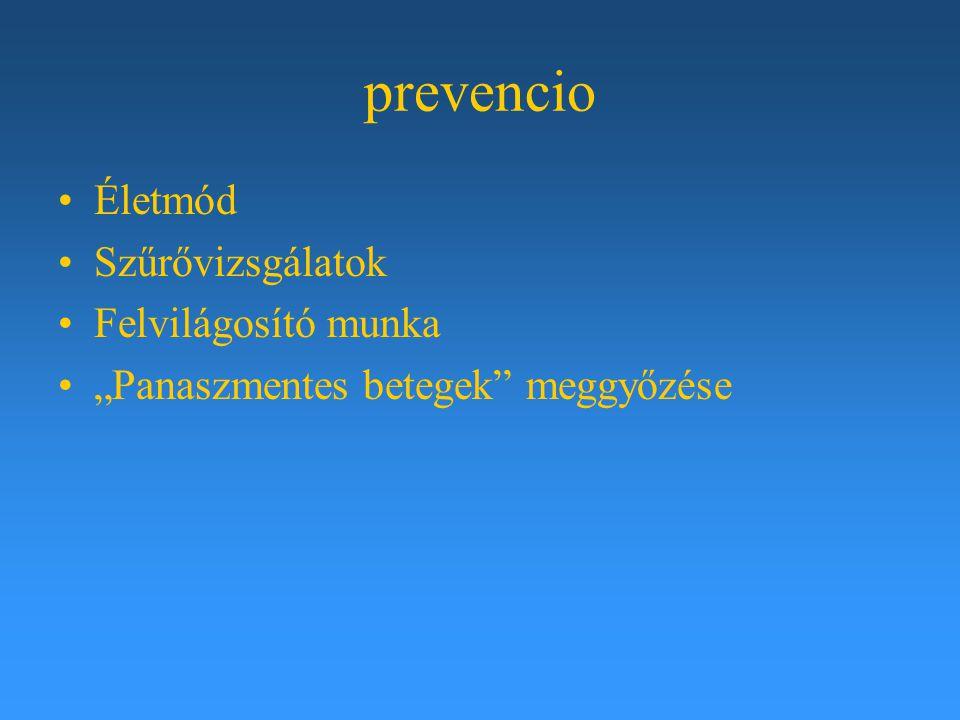 """prevencio Életmód Szűrővizsgálatok Felvilágosító munka """"Panaszmentes betegek"""" meggyőzése"""