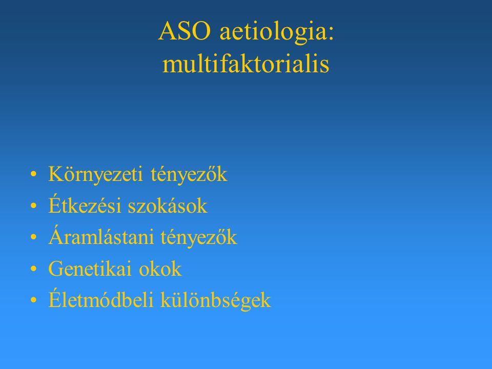 ASO aetiologia: multifaktorialis Környezeti tényezők Étkezési szokások Áramlástani tényezők Genetikai okok Életmódbeli különbségek