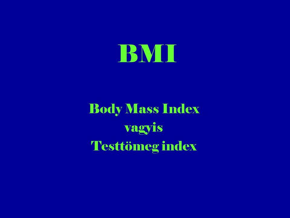 BMI Body Mass Index vagyis Testtömeg index