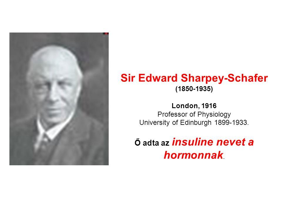 Sir Edward Sharpey-Schafer (1850-1935) London, 1916 Professor of Physiology University of Edinburgh 1899-1933.