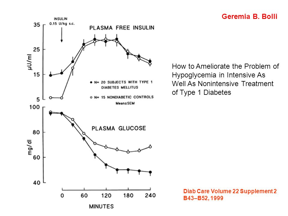 Diab Care Volume 22 Supplement 2 B43–B52, 1999 Geremia B. Bolli How to Ameliorate the Problem of Hypoglycemia in Intensive As Well As Nonintensive Tre
