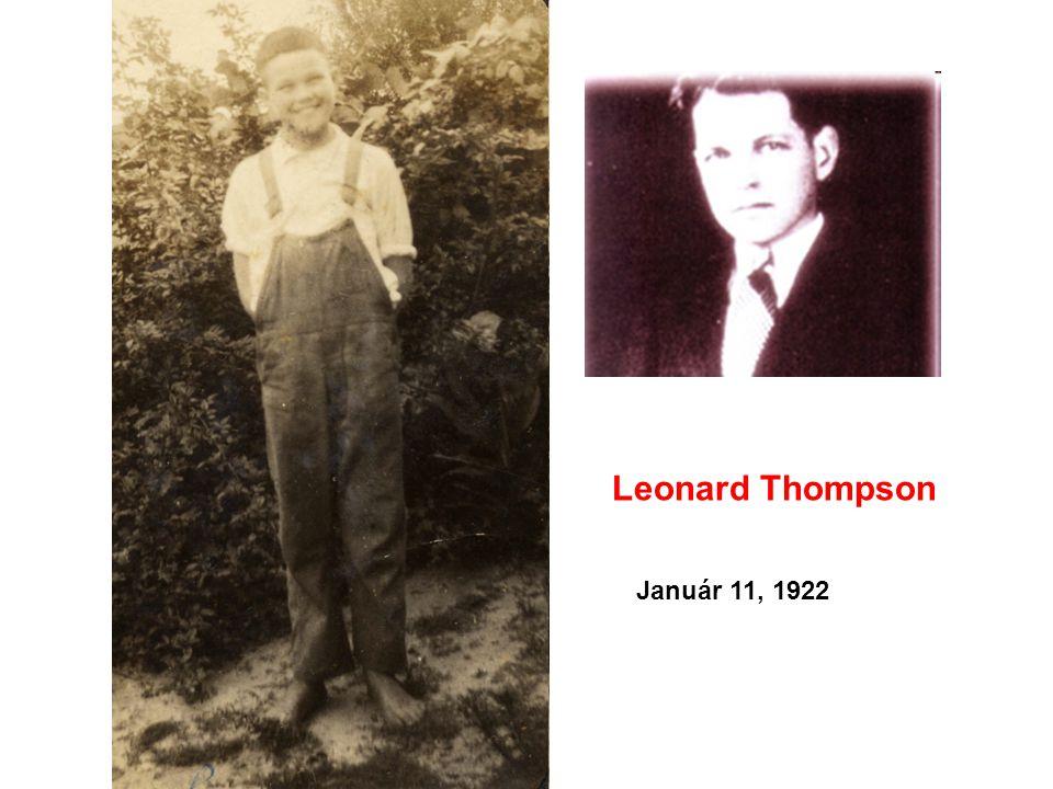 Leonard Thompson Január 11, 1922
