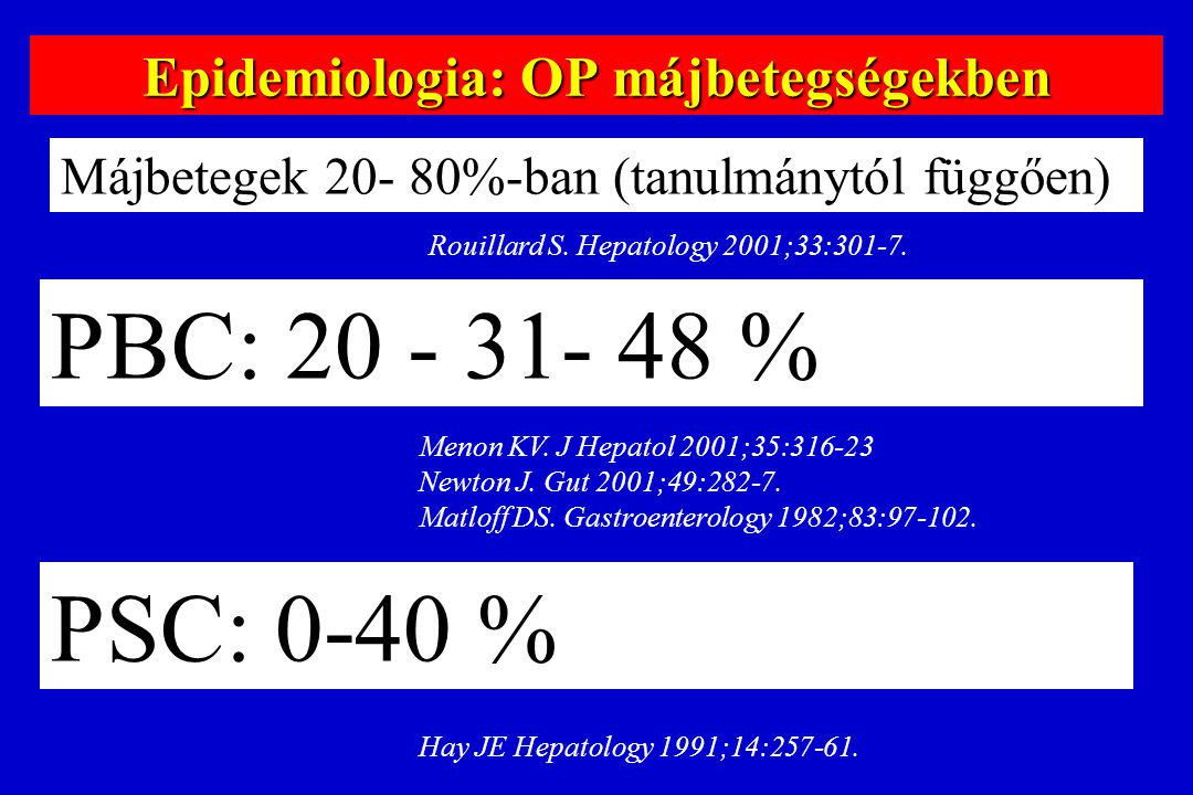 59 y ♀ with PBC since 1985 1999.