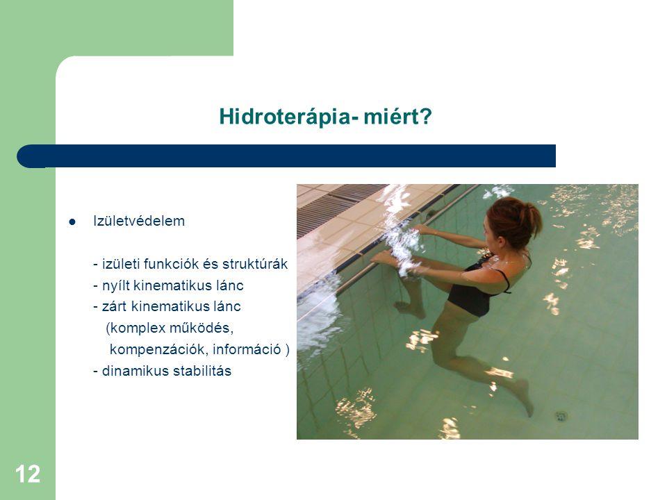 12 Hidroterápia- miért.