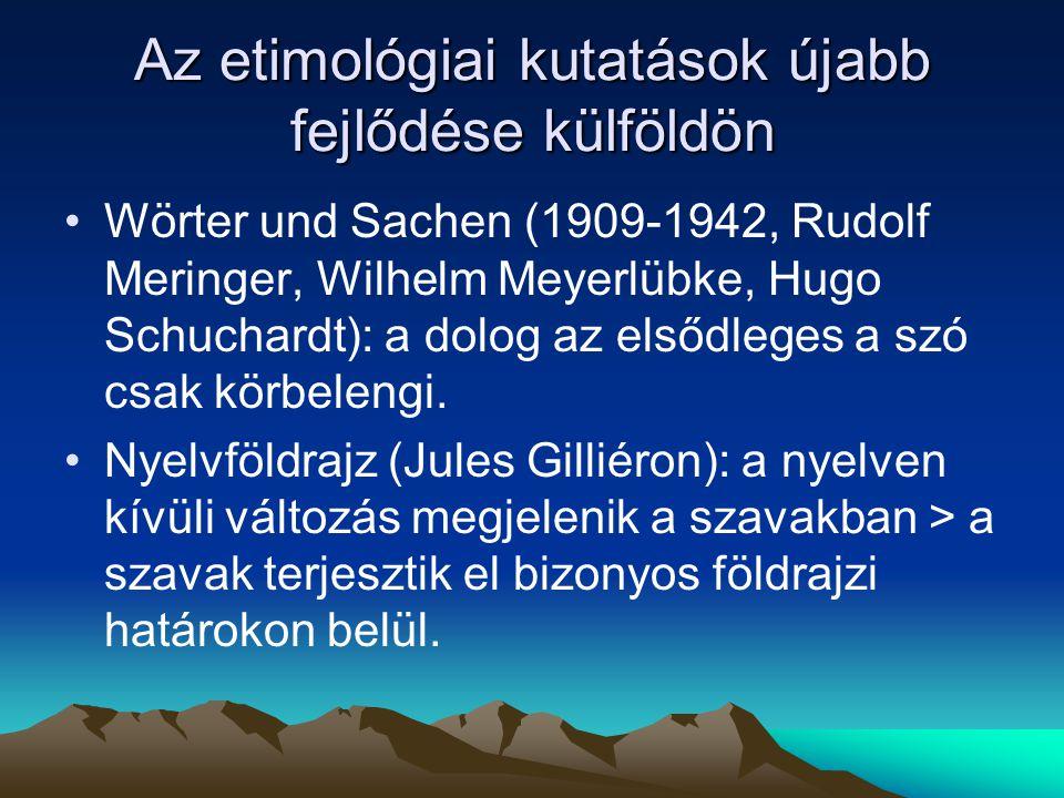 A magyar szókincs rétegződése eredetbeli rétegek (KISS-PUSZTAI) 1.