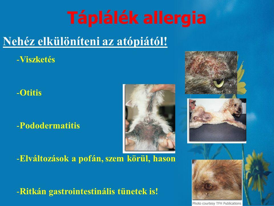 Jellemző klinikai tünetek