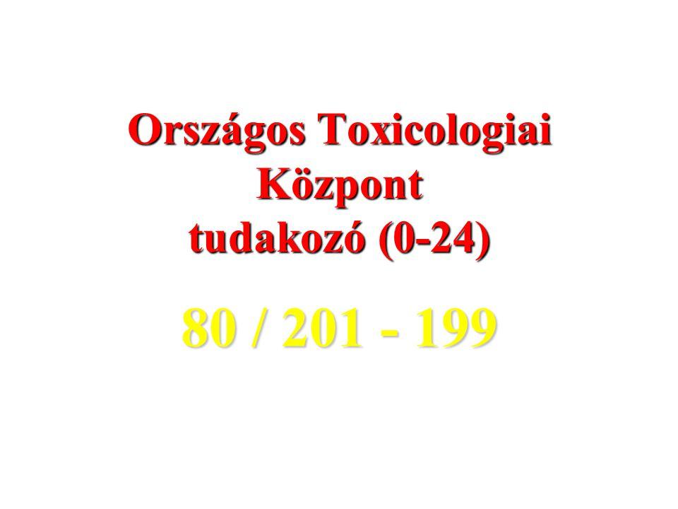 Országos Toxicologiai Központ tudakozó (0-24) 80 / 201 - 199