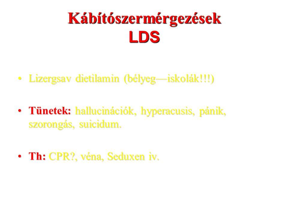 Ipari oldószer-mérgezések metanol Th:Th: - gyomormosás (6 órán belül) - 50-100 ml szeszes ital gyanú esetén is.